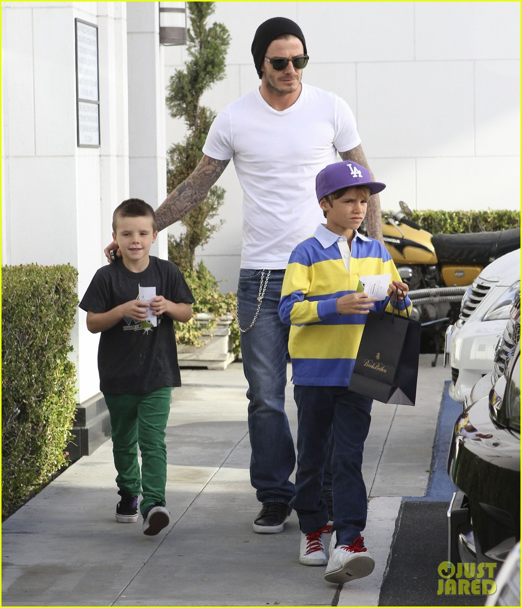 david beckham shopping cruz romeo 12