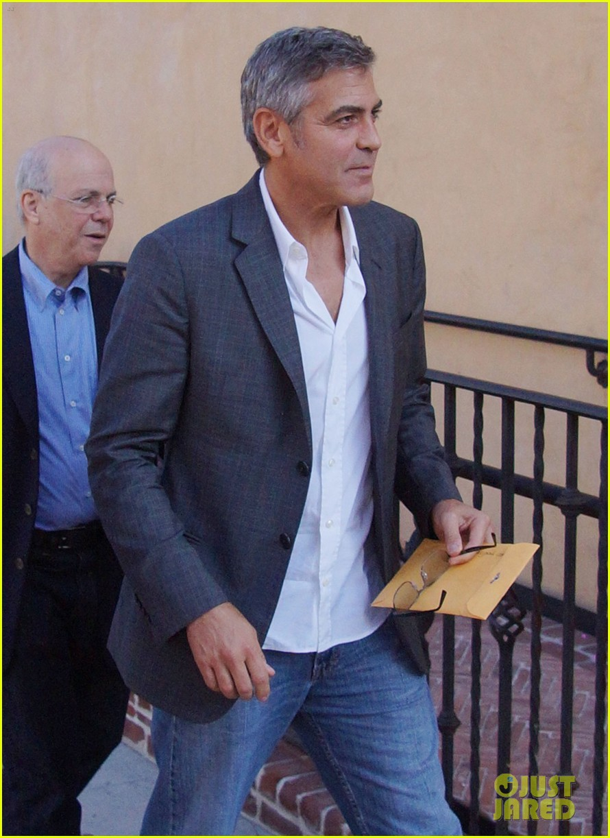 george clooney beau bridges lunch 04