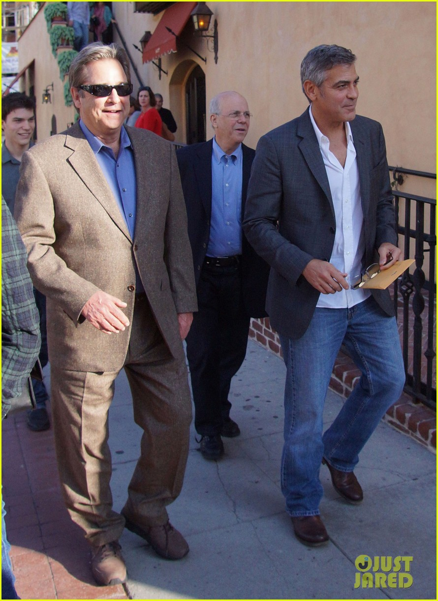 george clooney beau bridges lunch 08