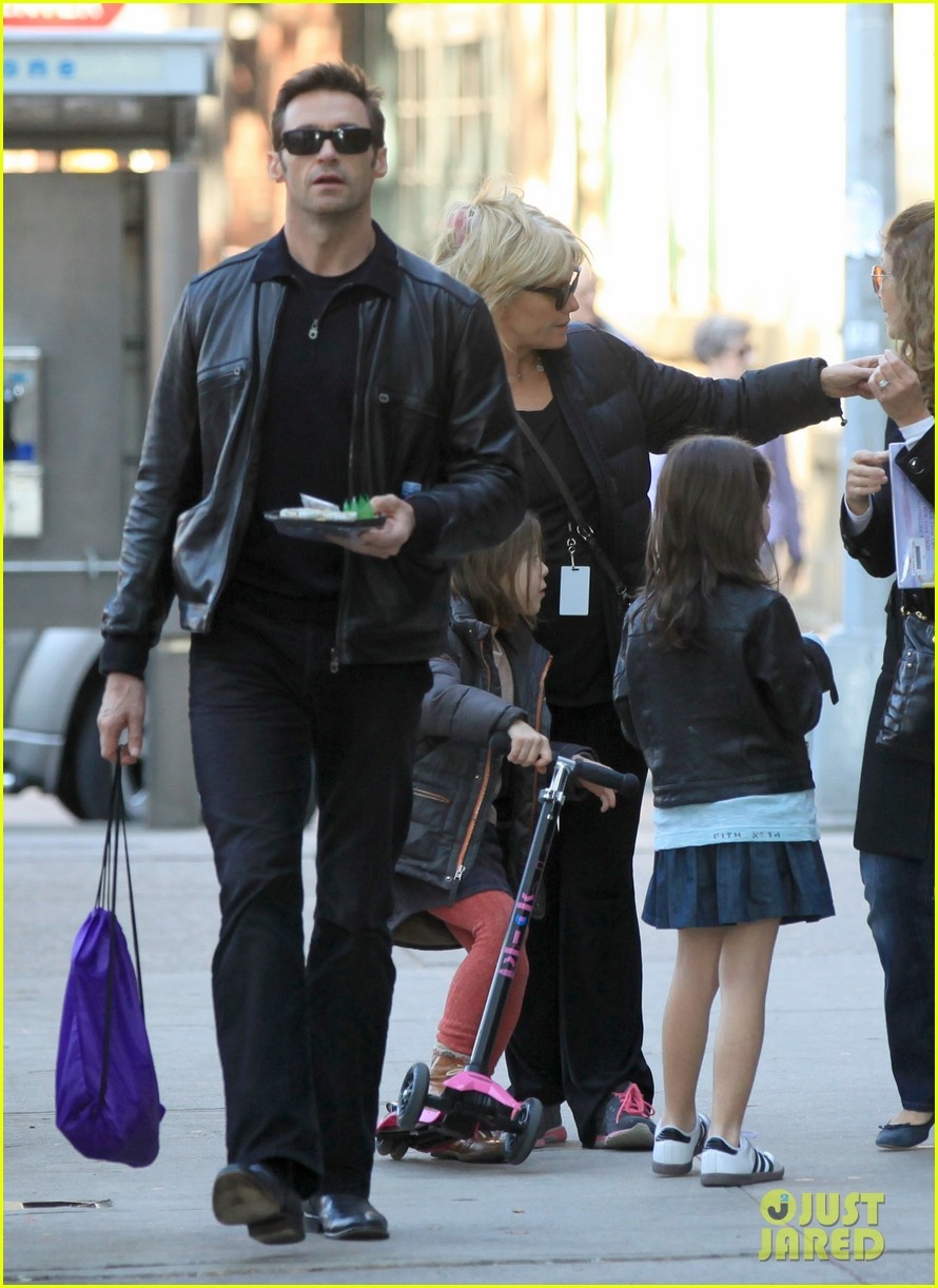 hugh jackman deborra lee furness day out with ava 14