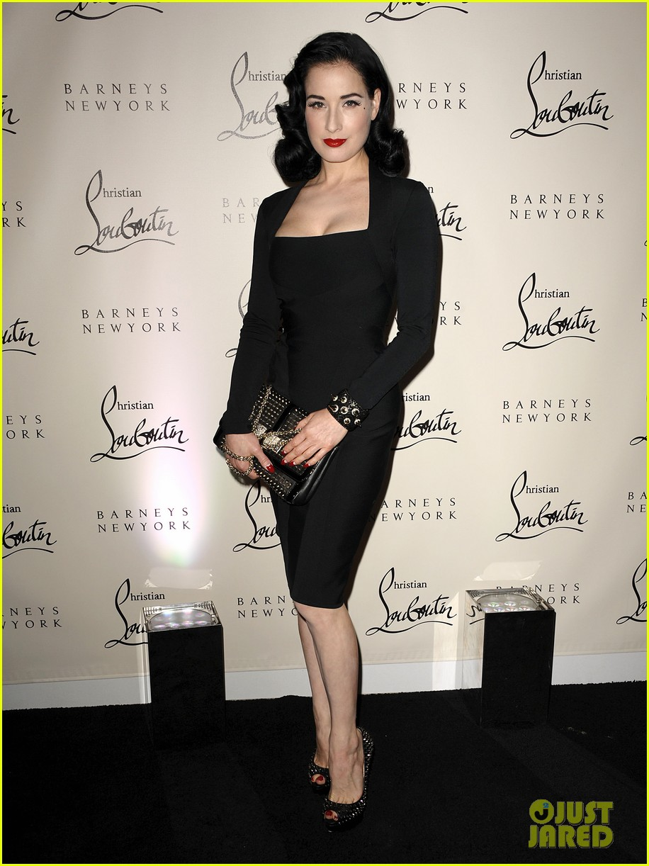 dita von teese christian louboutin launch party cutie 01