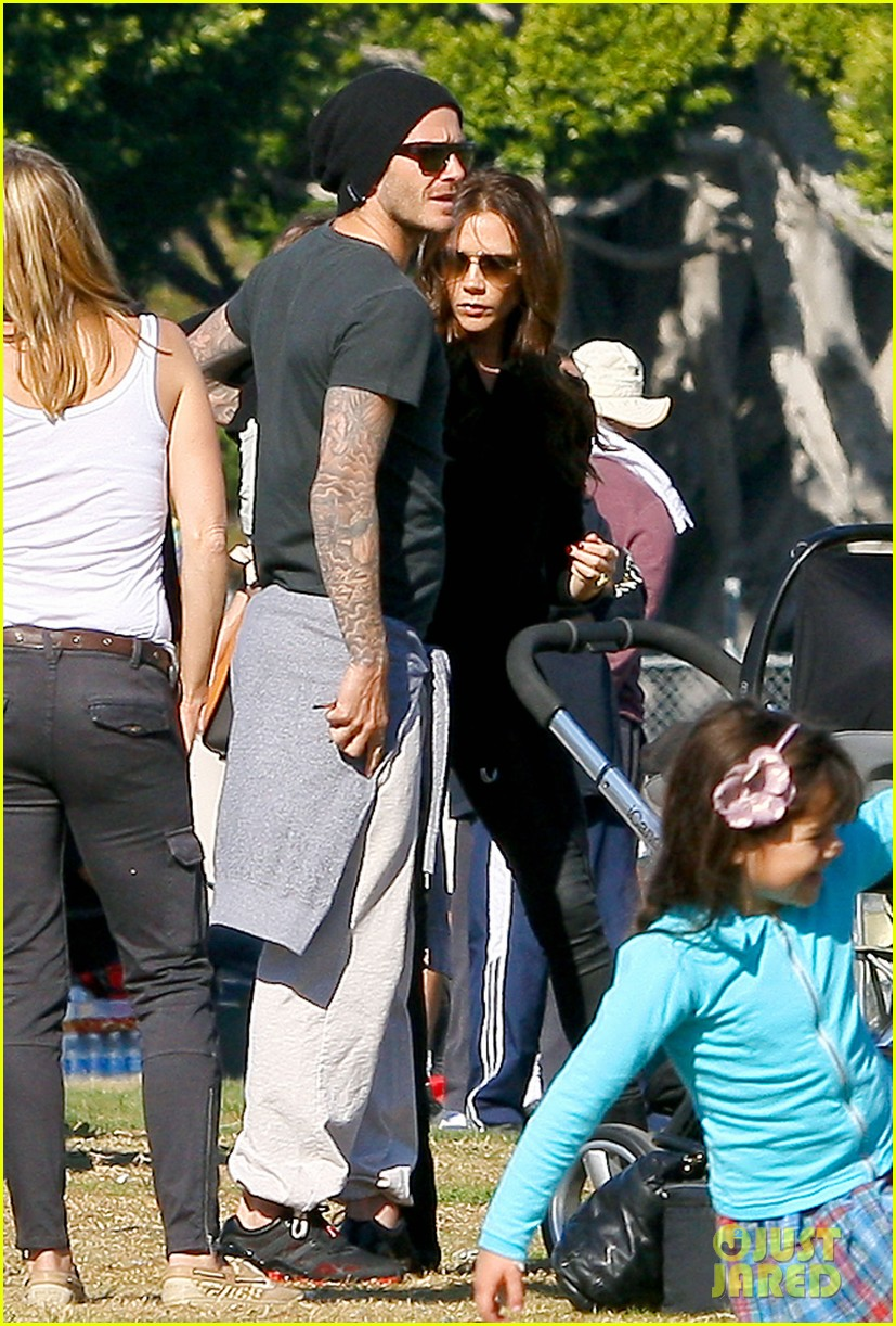 david beckham baby harper out stroller 022609183