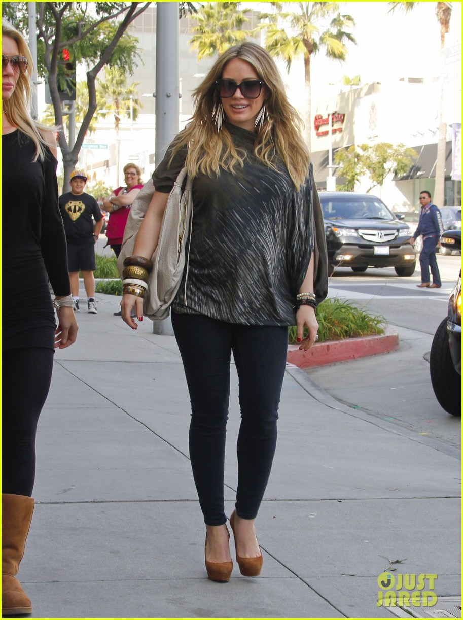 hilary duff mike comrie shopping 03