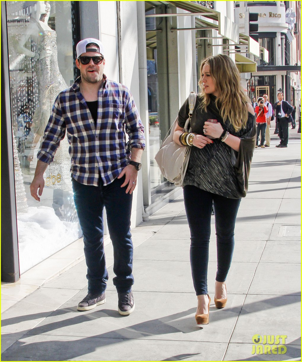 hilary duff mike comrie shopping 07