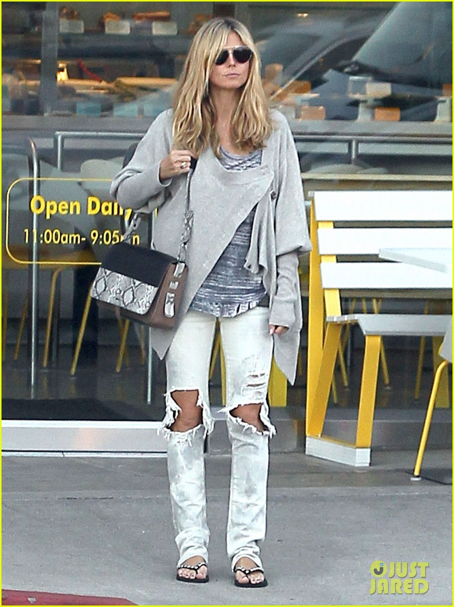 heidi klum lemonade lunch with bodyguard 01