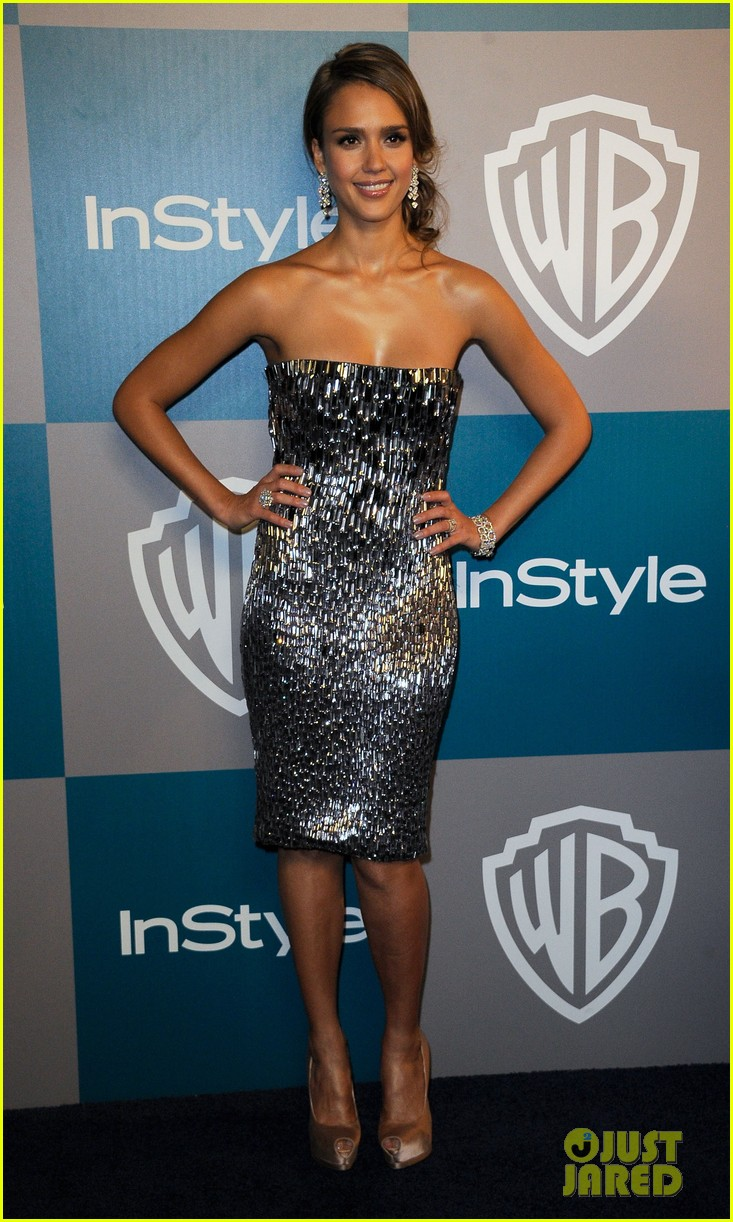 jessica alba golden globes after party 04