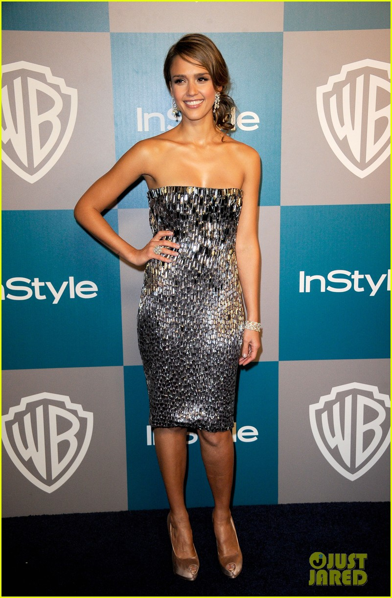 jessica alba golden globes after party 05