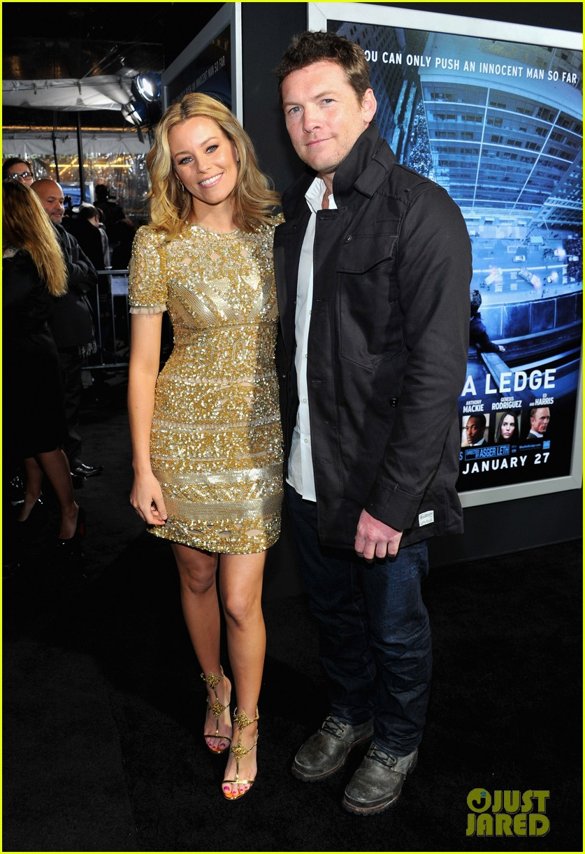 elizabeth banks sam worthington man cliff premiere 15