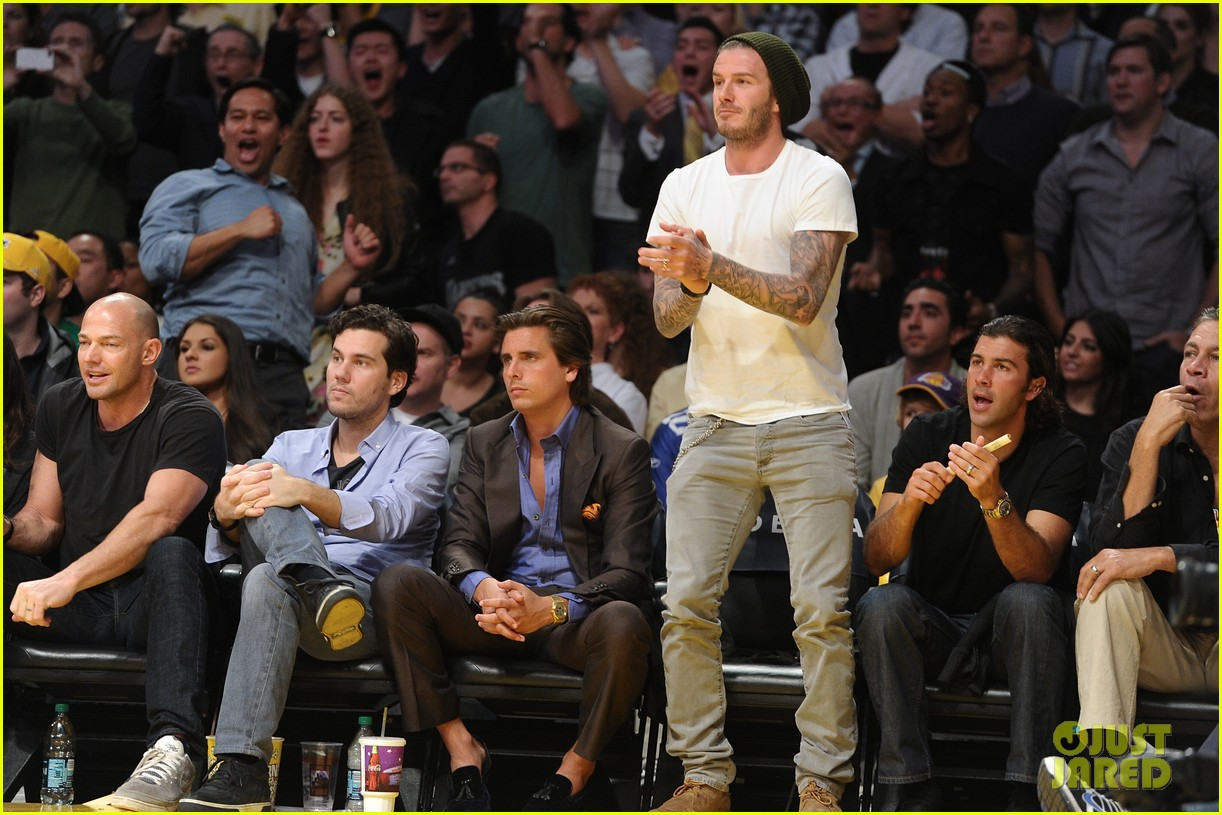 david beckham courtside lakers 02
