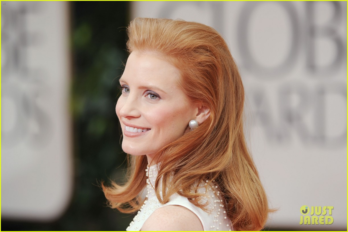 jessica chastain golden globes 2012 02