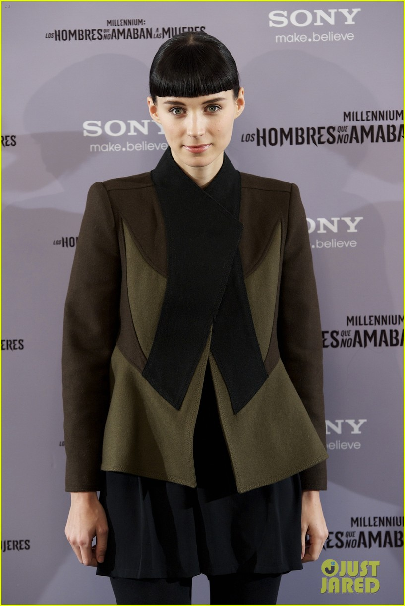 daniel craig rooney mara dragon tattoo madrid photo call 10