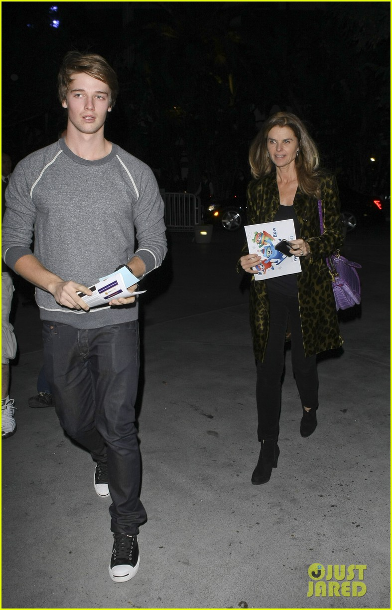 maria shriver patrick schwarzenegger staples center 02