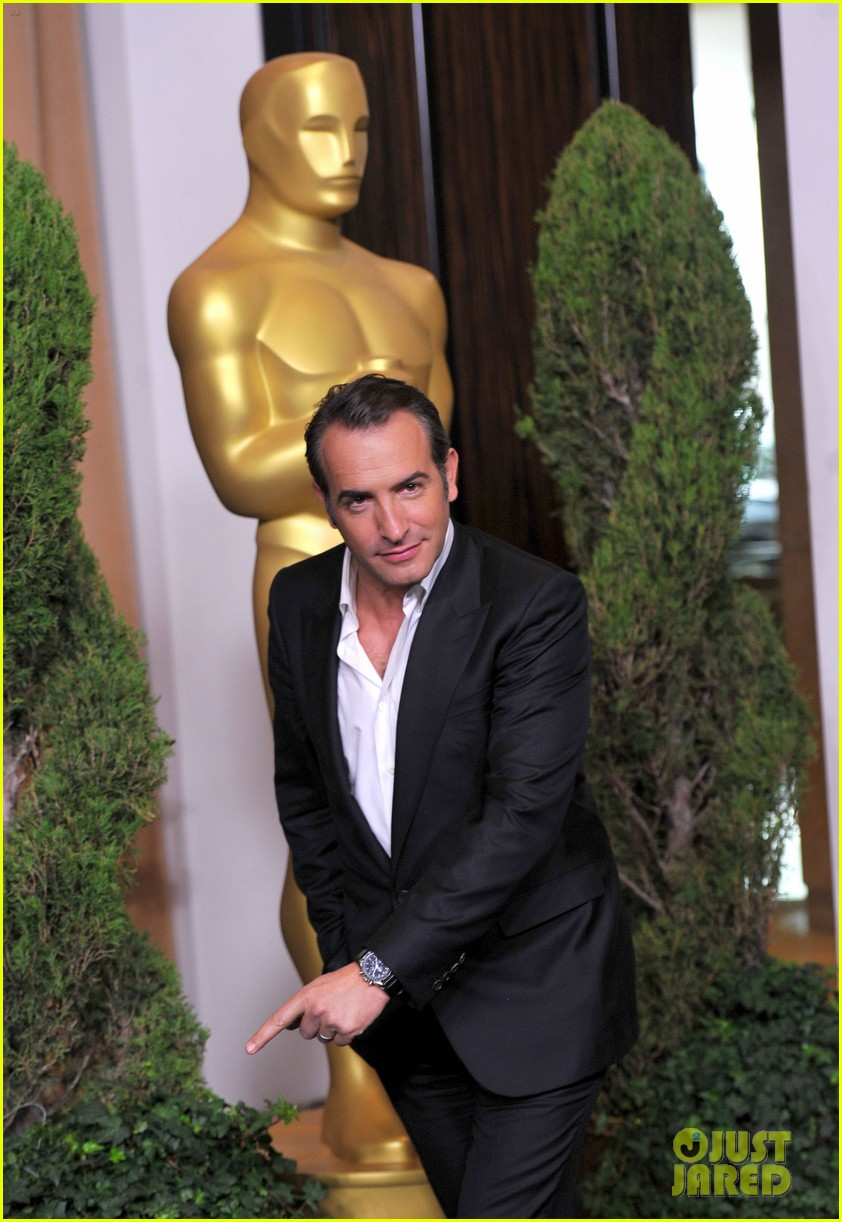 berenice bejo jean dujardin oscars luncheon 15
