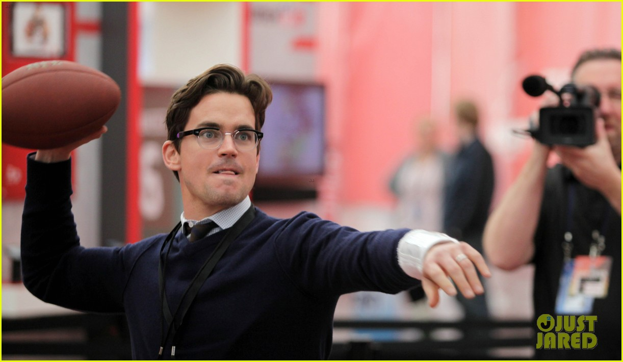 matt bomer super bowl events with son kit 10