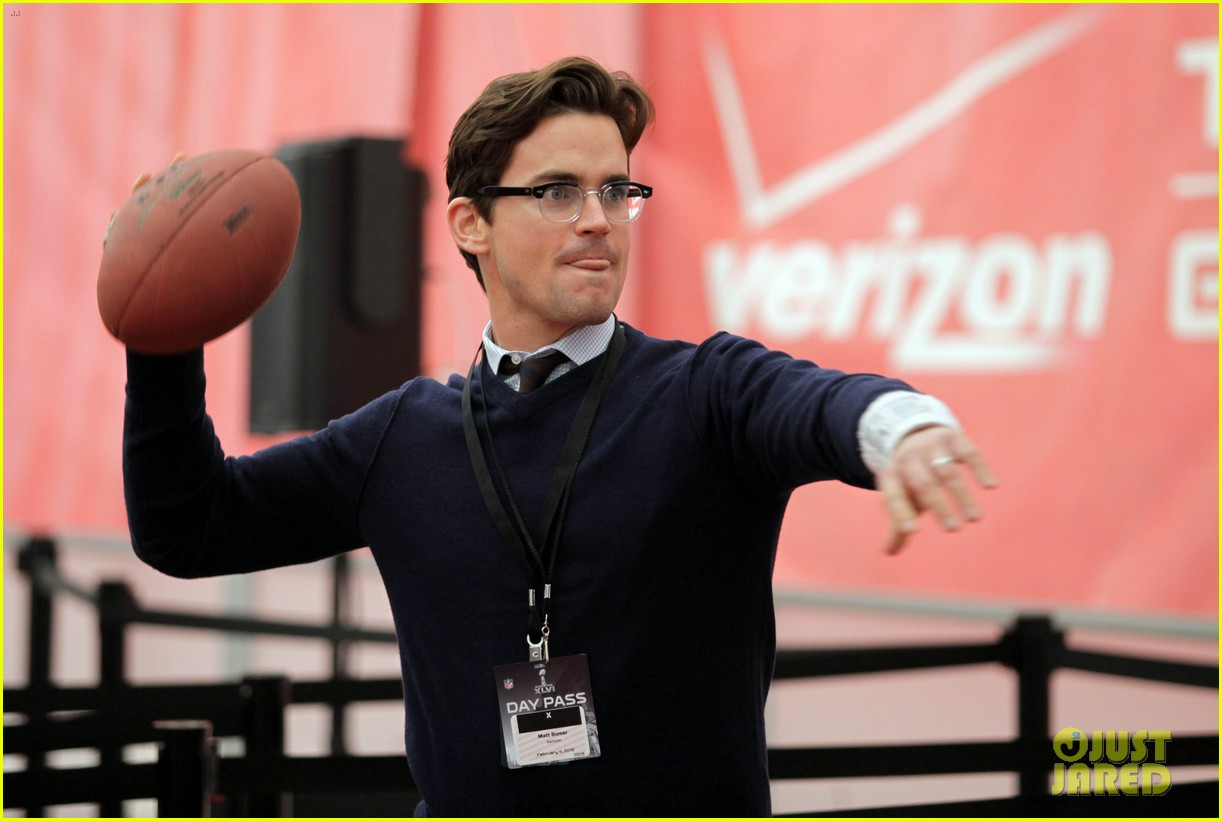 matt bomer super bowl events with son kit 122625277