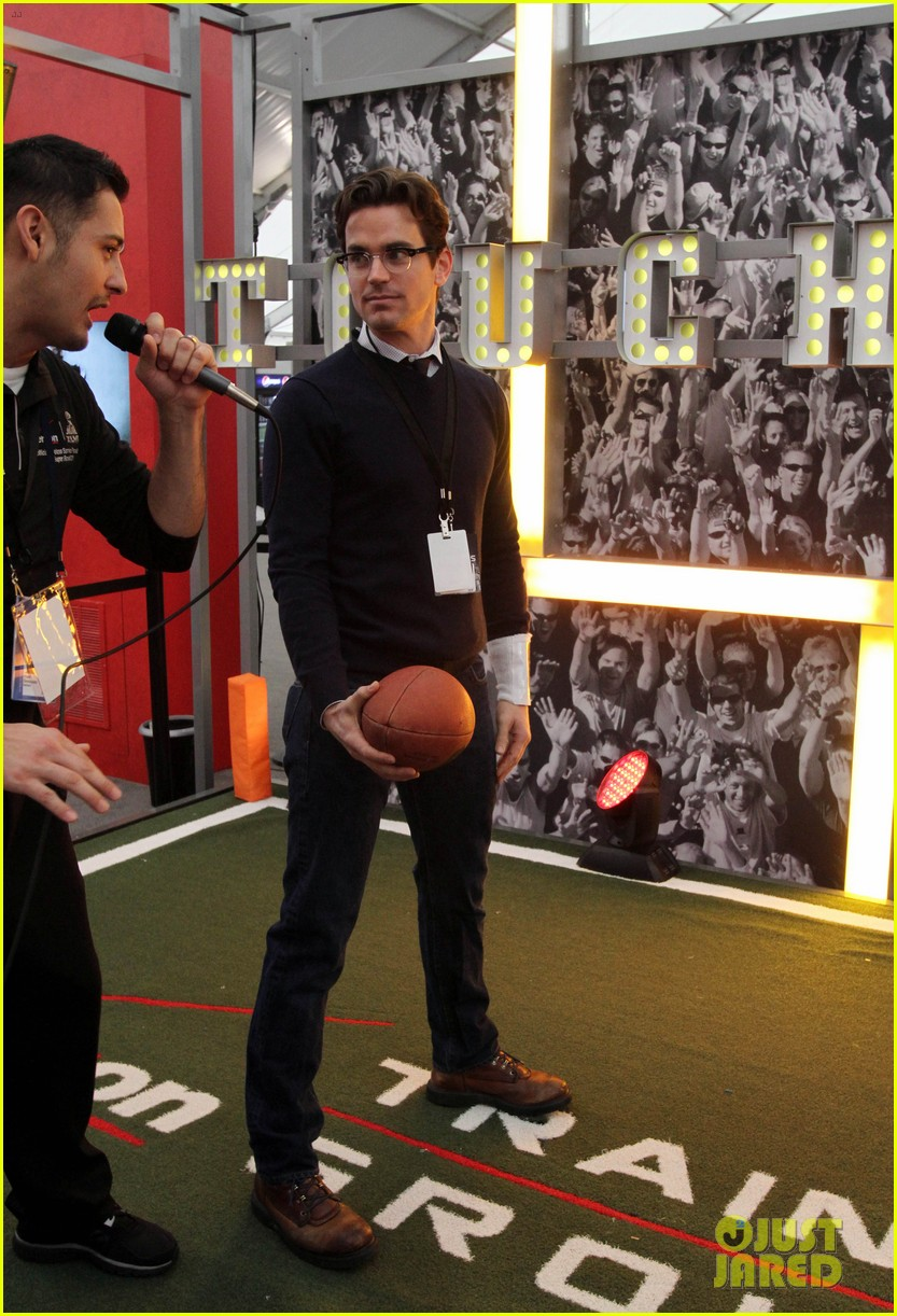 matt bomer super bowl events with son kit 14