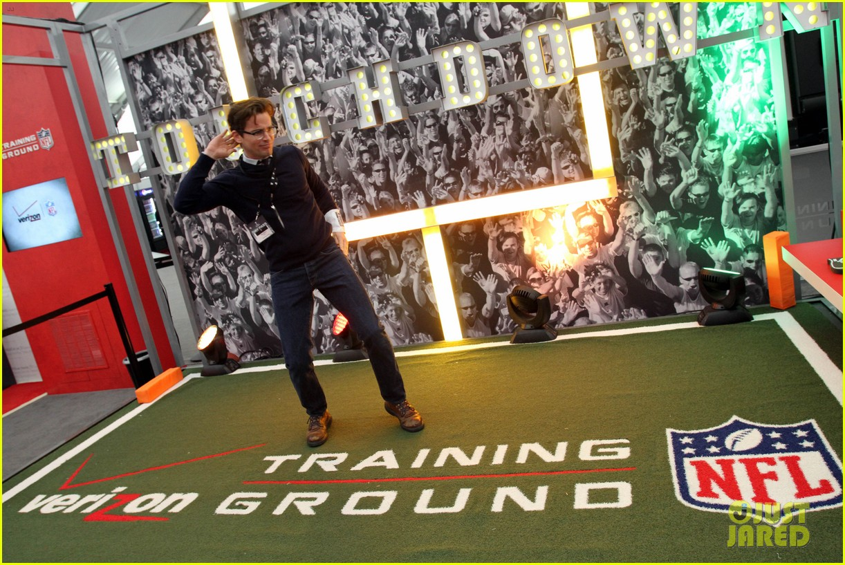 matt bomer super bowl events with son kit 15