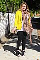 hilary duff pregnant yellow blazer 10