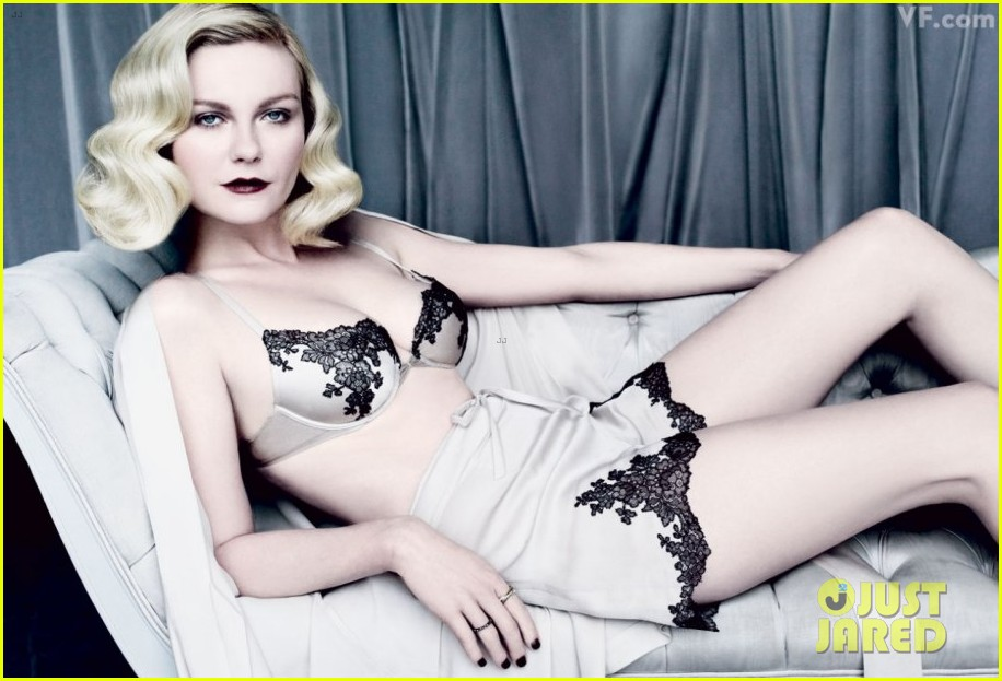 kirsten dunst lingerie lady for vanity fair 01