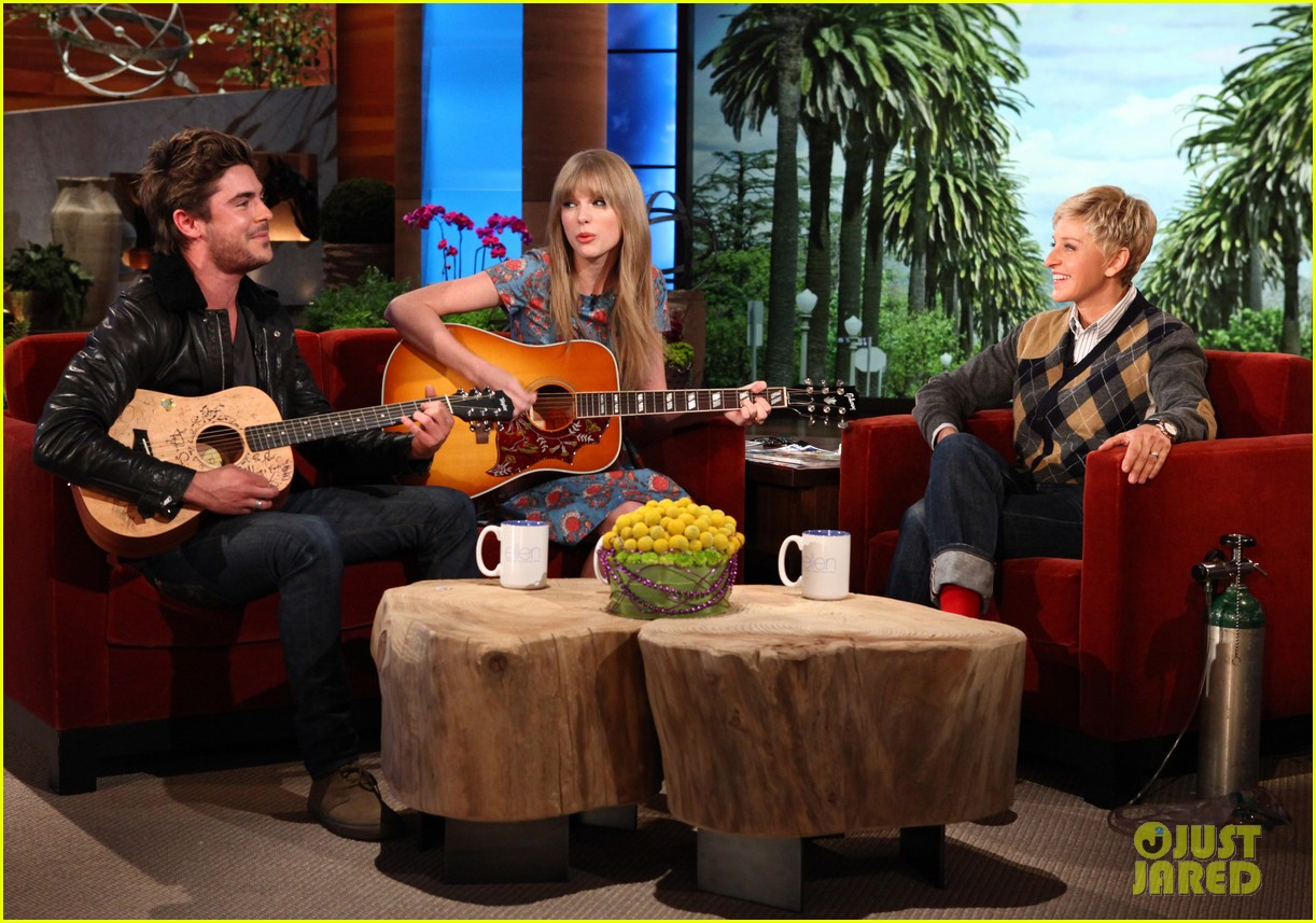 zac efron taylor swift duet on ellen 01