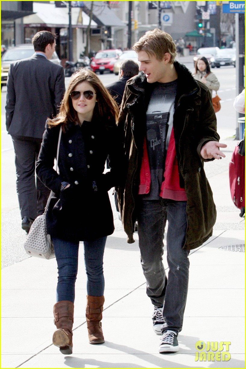 lucy hale chris zylka afternoon stroll 05