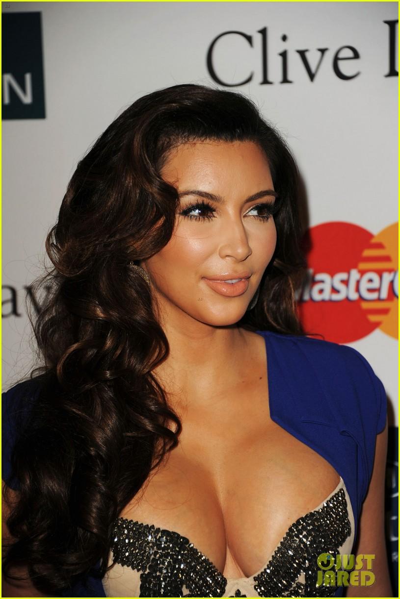 kim kardashian serena williams clive davis party 15