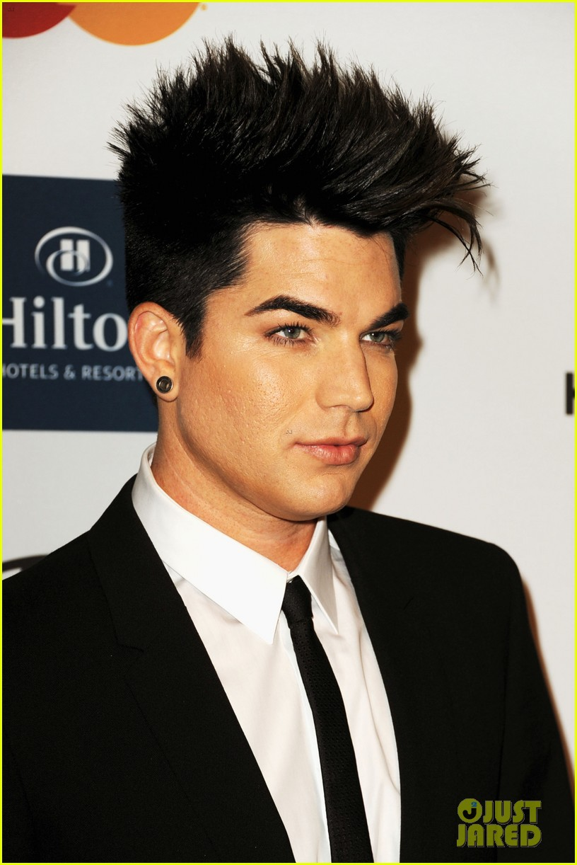adam lambert clive davis party 022627699