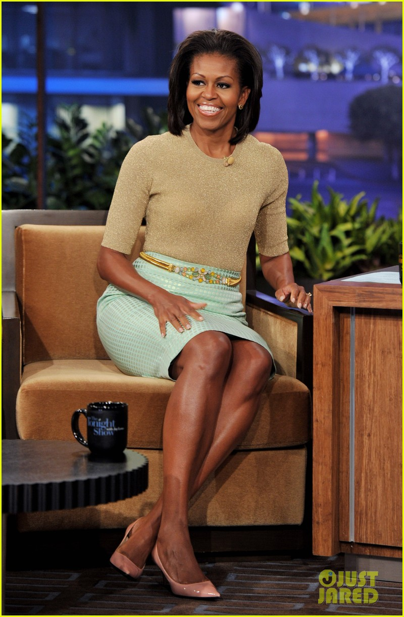 michelle obama tonight show with jay leno 012624359