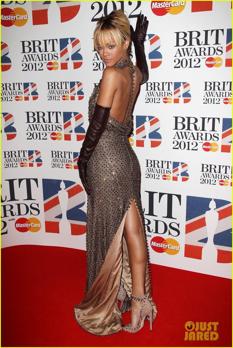 Rihanna Red Rihanna Brit Awards 2012 Red