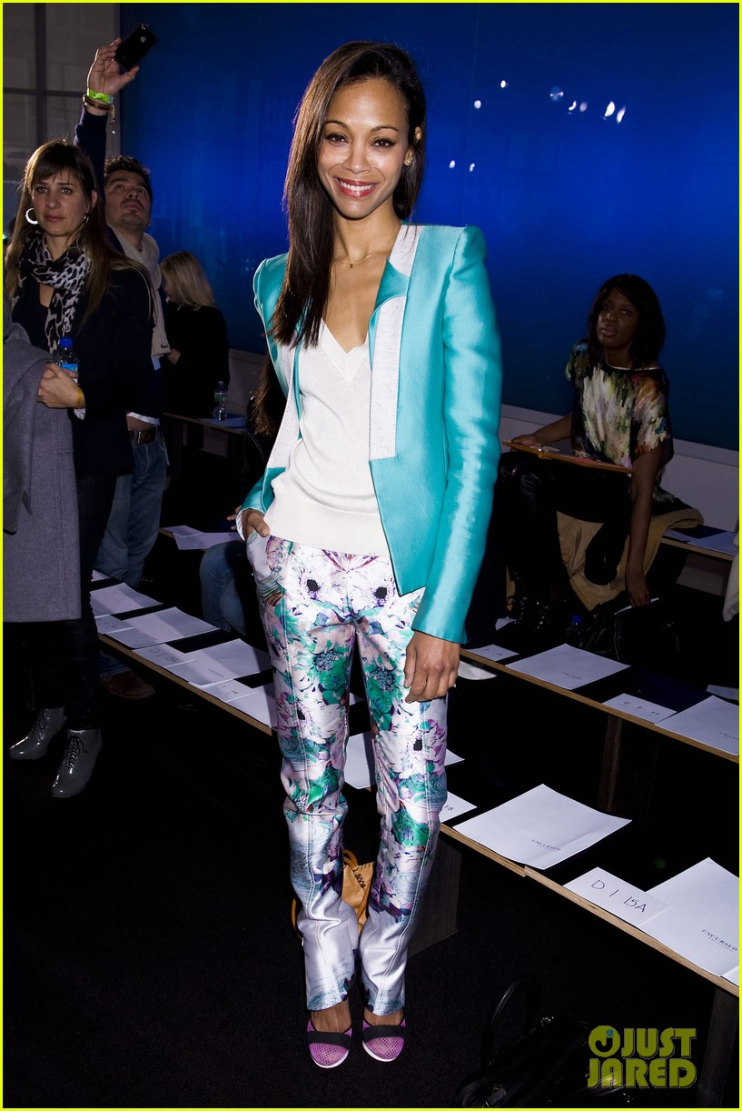 zoe saldana fashion week saturday 13