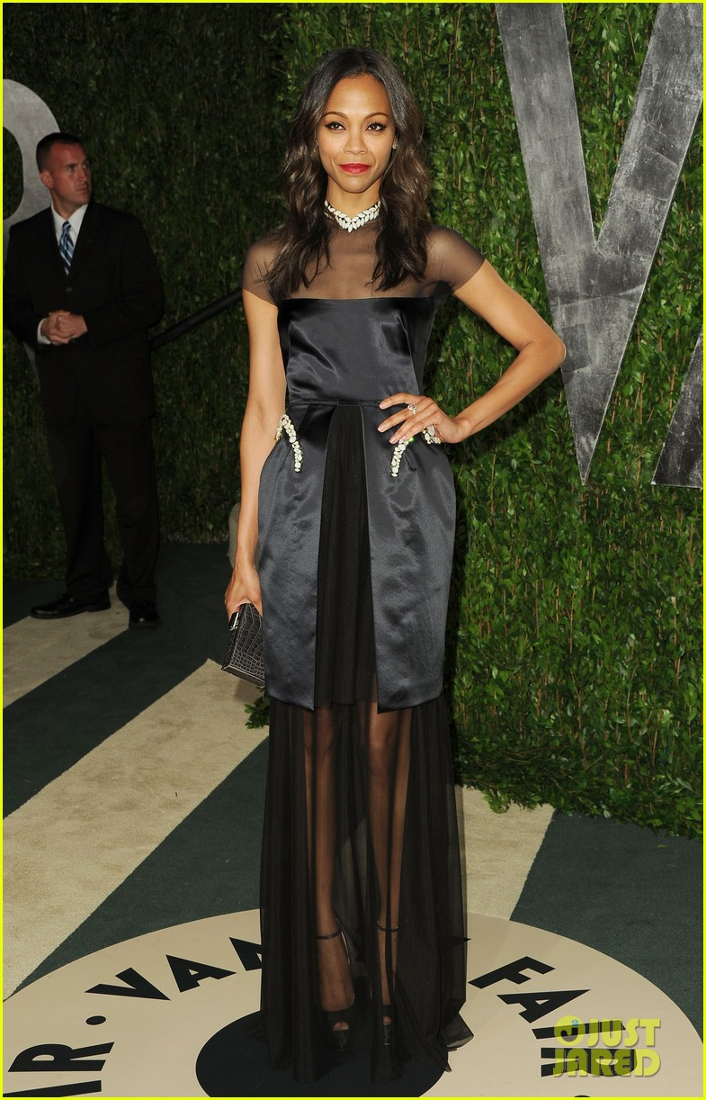 zoe saldana bradley cooper vanity fair party 082634002