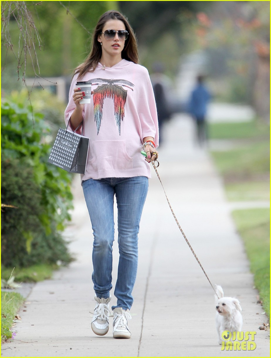 alessandra ambrosio walking dog 03