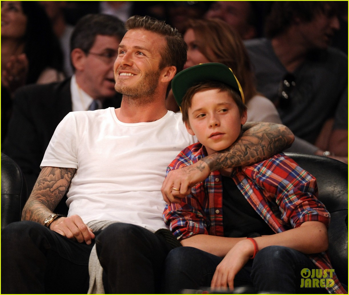 david beckham lakers game with brooklyn 03