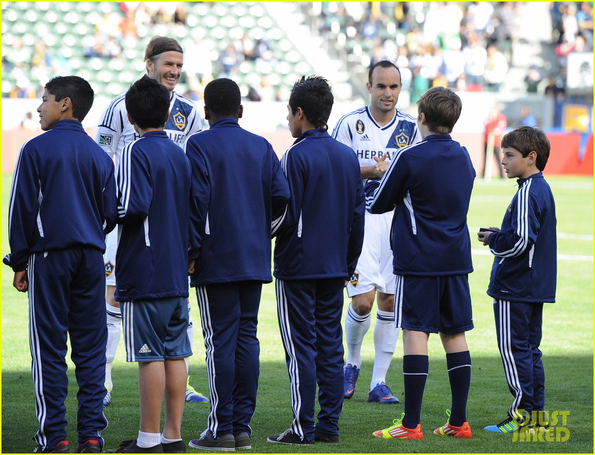 david beckham first l a galaxy win of the season 09
