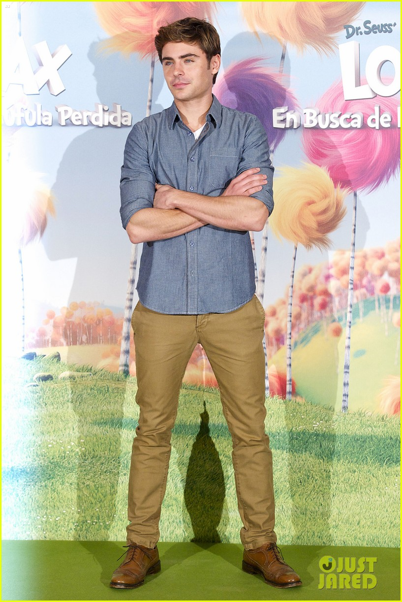 zac efron lorax photo call madrid 17