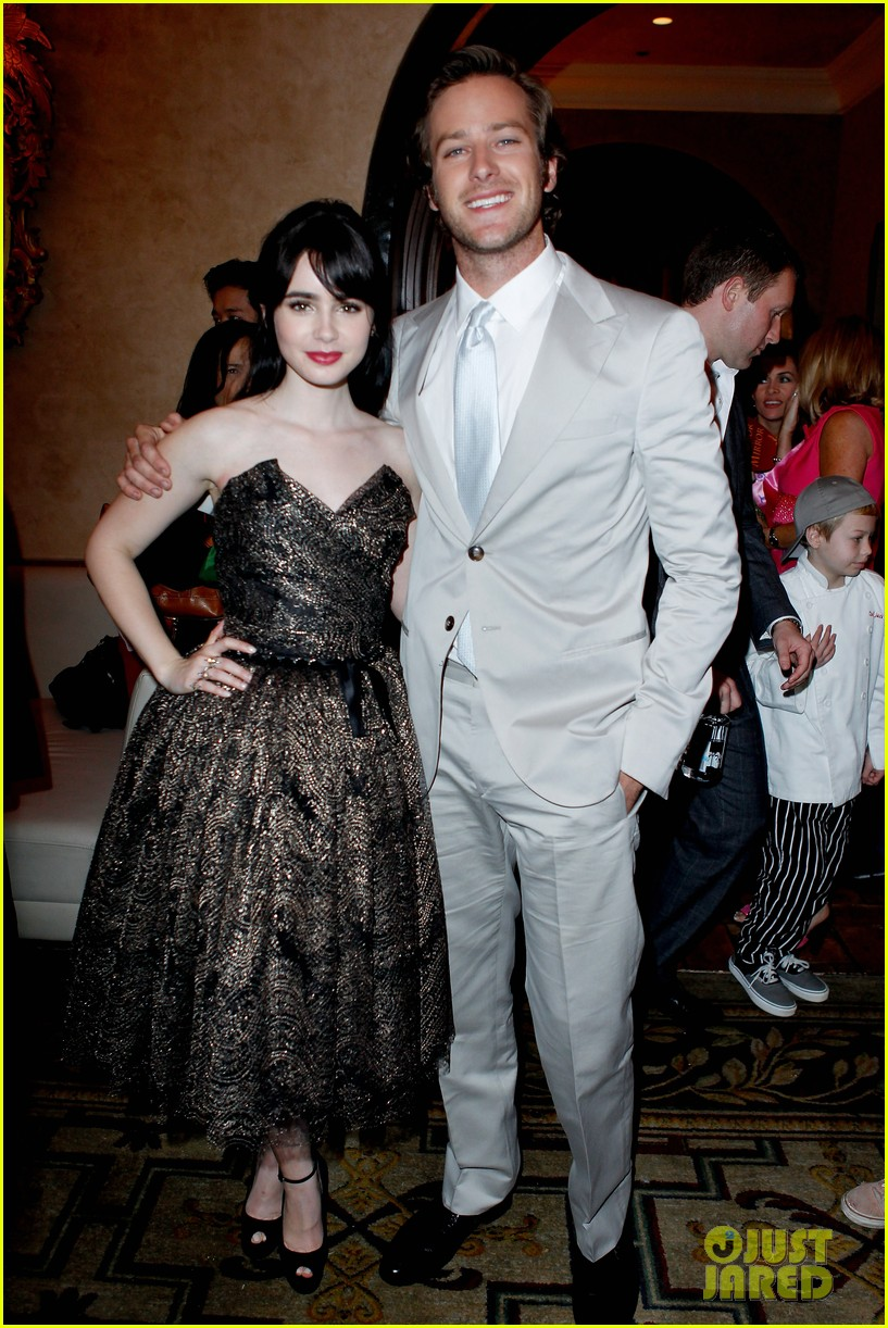 armie hammer mirror mirror after party with lily collins 01