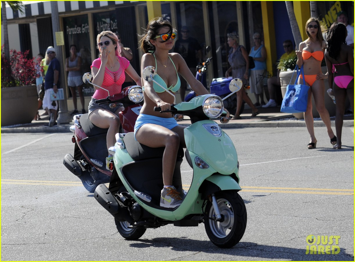 vanessa hudgens bikini scooter spring breakers 082638676