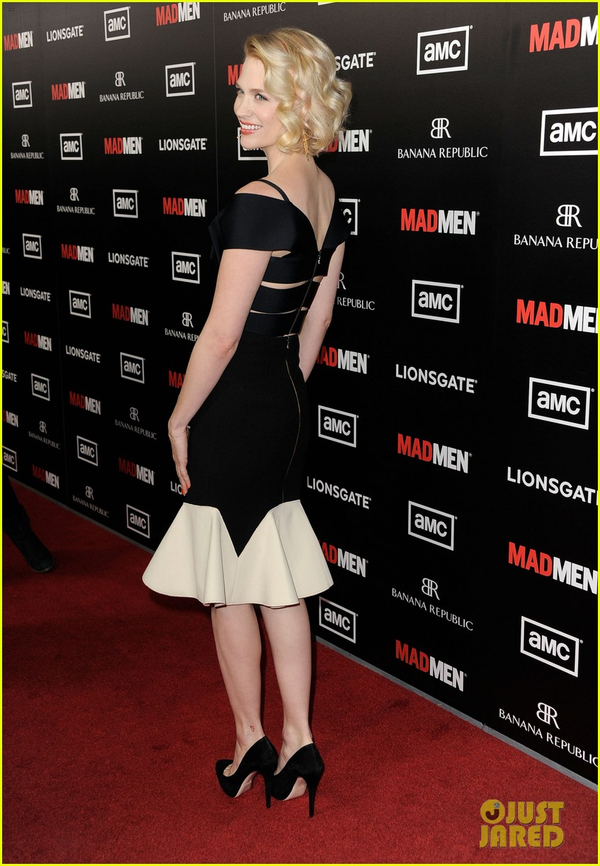 january jones jon hamm mad men premiere 05
