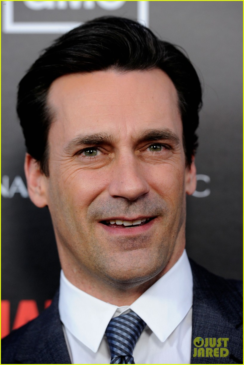 january jones jon hamm mad men premiere 12
