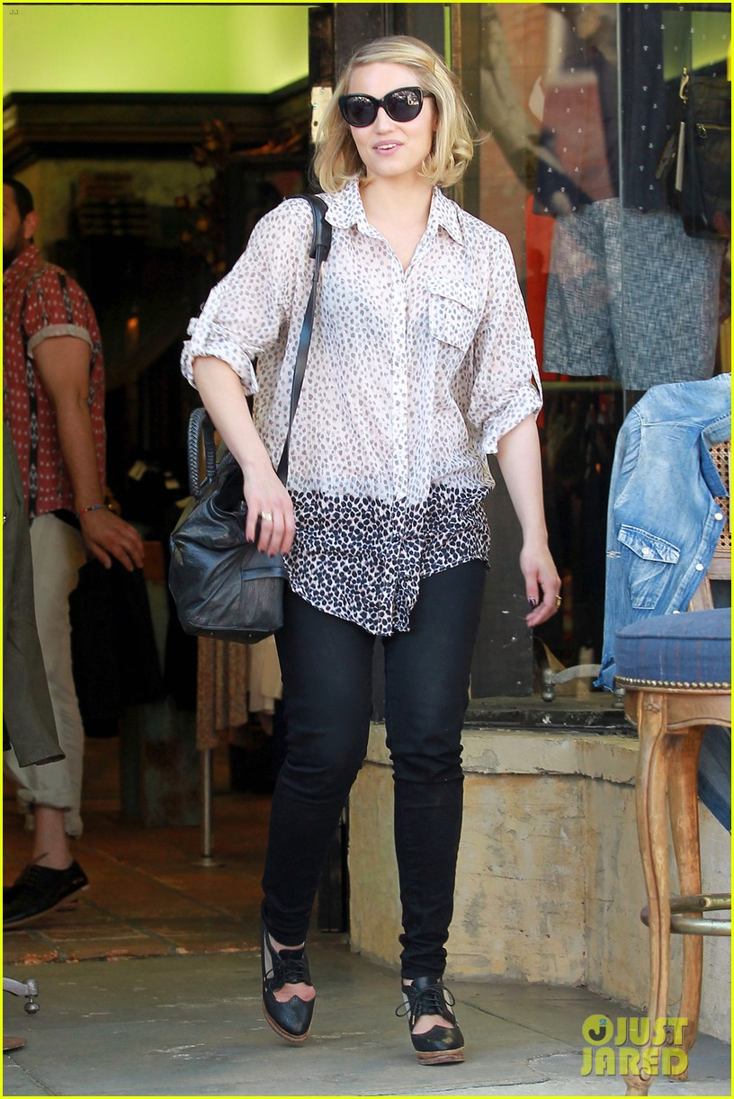 dianna agron jeans shopping 02