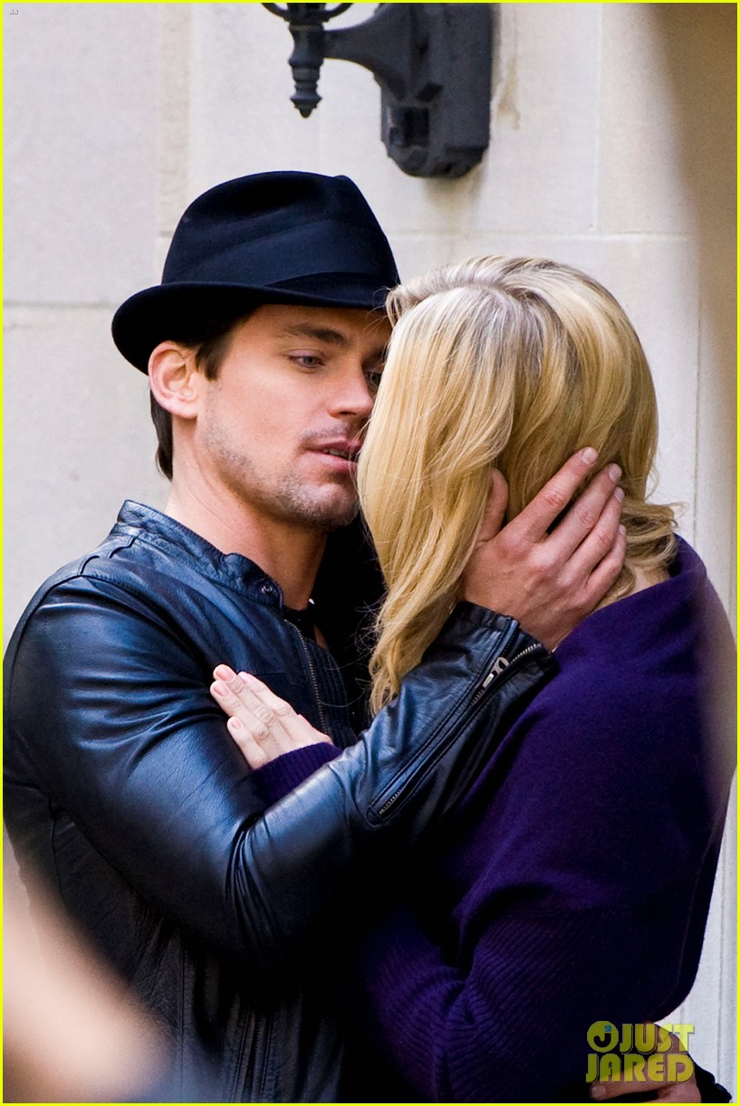 matt bomer laura vandervoort kiss for white collar 07