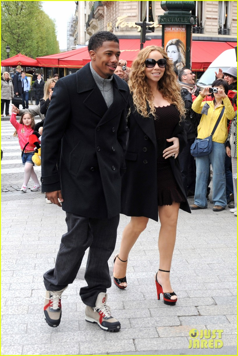 mariah carey nick cannon kiss paris 01