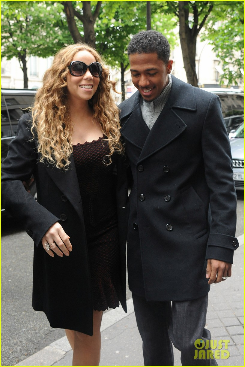 mariah carey nick cannon kiss paris 03