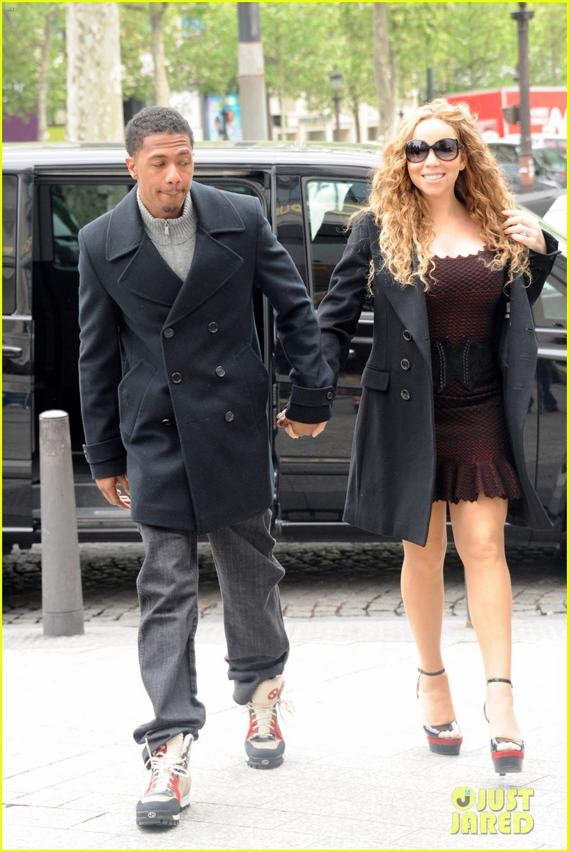 mariah carey nick cannon kiss paris 052654284