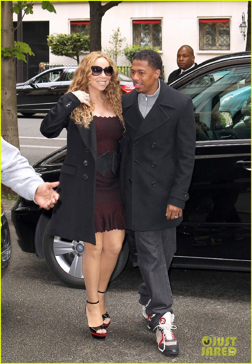 mariah carey nick cannon kiss paris 102654289