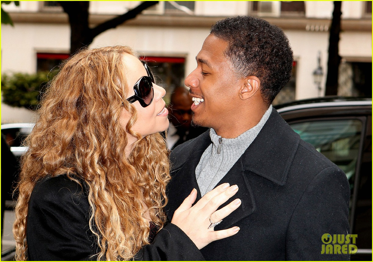 mariah carey nick cannon kiss paris 11