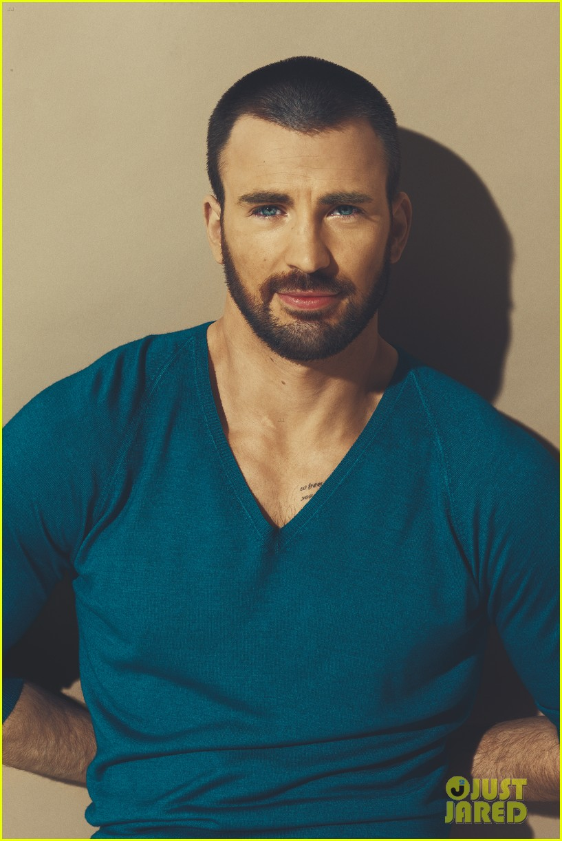 Shirtless Chris Evans Details Magazine Cover Star Photo 2647741