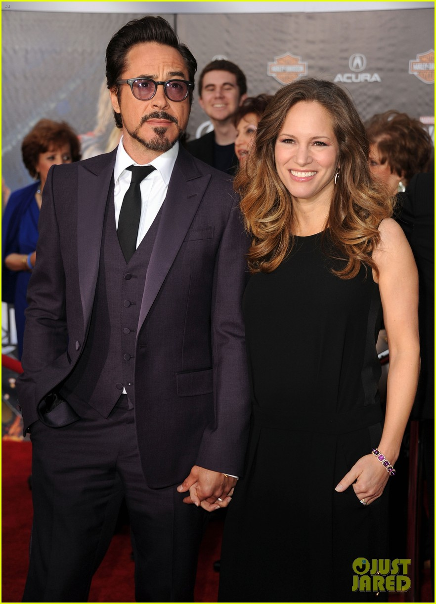 robert downey jr avengers premiere with wife susan 01