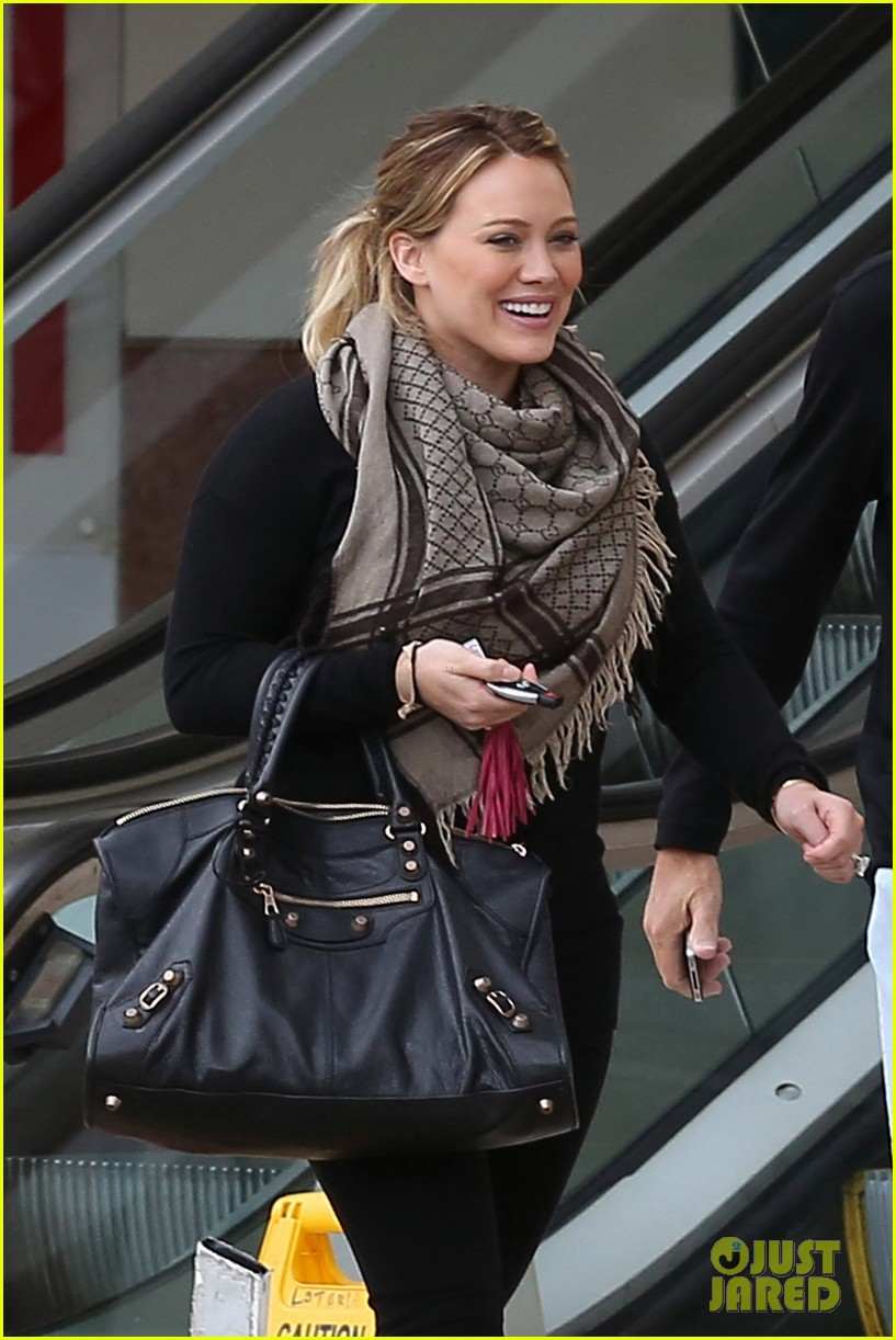 hilary duff meeting and pilates 05
