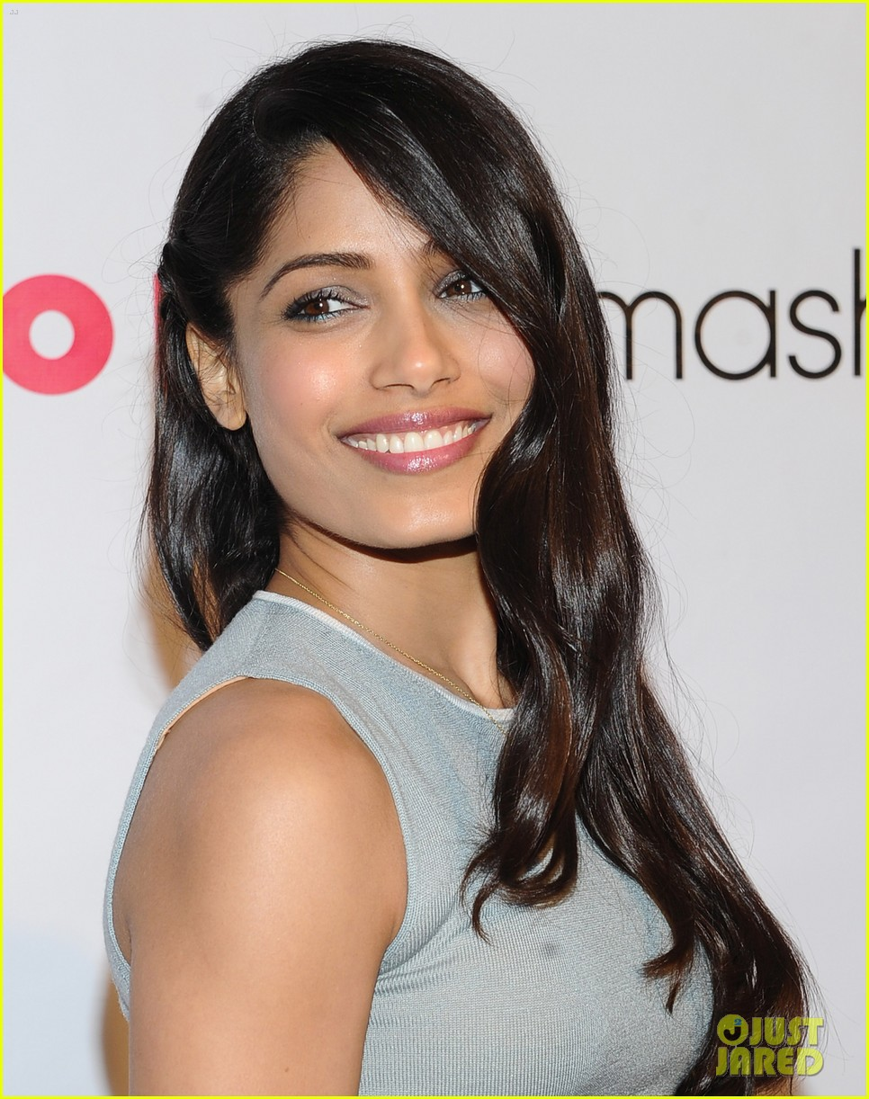 Freida Printo: Flaming Car Dress for Nylon Party!: Photo ... Freida Pinto Lipstick Color